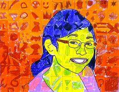 6th Grade: Chuck Close Self-Portraits