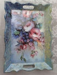 You are in the right place about Decoupage macetas Here we offer you the most beautiful pictures about the Decoupage paper you are looking for. Decoupage Vintage, Decoupage Paper, Decoupage Ideas, Wood Crafts, Diy And Crafts, Arts And Crafts, Tole Painting, Painting On Wood, Deco Podge