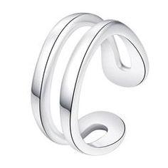 5d6d0e157b56 Adjustable 925 silver plated ring Anillos De Joyería