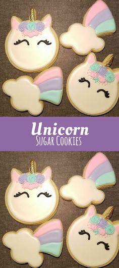 Unicorn and Rainbows mixed sugar cookies 1 dozen #affilitate