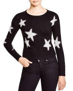Alice + Olivia Erran Metallic Stars Sweater
