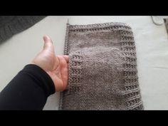 Örgüde Cep Torbası Nasıl Yapılır - How to make a braided pocket bag - Yo. Knitting Videos, Knitting Stitches, Knitting Patterns, Crochet Patterns, Fibre And Fabric, Bag Making, Arm Warmers, Knit Crochet, Braids