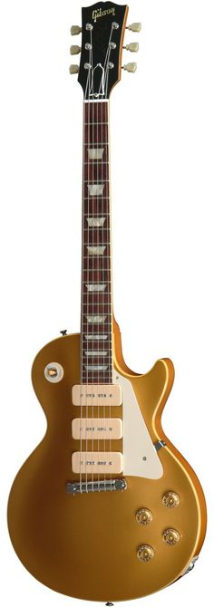 gibson custom 54 les paul goldtop with 3 p90 pickups electric guitar
