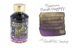 A 2ml sample of Diamine Purple Pazzazz shimmering fountain pen ink, in a labeled…