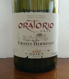 Oratorio Crozes Hermitage Ogier France 13.5 % alcohol $ 26. Northern Rhone. 100% Syrah. Dark red with a spicy black fruit and vanilla nose. Dark chocolate,  mocha and blackberry palate. Mineral finish. 90pts.