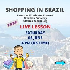 🇧🇷FREE LIVE LESSON ON ZOOM 💥LIMITED SPACES 👉 DM or comment below to be sent the secret registration link  #FWBP #brazilianportuguese #brazilianportugueseworkshop #portuguese #brazilianportugueseforforeigners #portugueseforgringos #learnbrazilianportuguese #brazlianportugueselovers #learnportuguese #portugueselessons #portuguesecourse #portuguesetips #speakportuguese #portugiesischlernen #languages #webinar #freeworkshop #polyglot #bilingual #hablarportugues  #ブラジルポルトガル語 Learn Brazilian Portuguese, Portuguese Lessons, Uk Time, Languages, Vocabulary, Workshop, Spaces, Live, Words