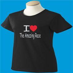 I Love The Amazing Race T-Shirt - www.scottystees.com