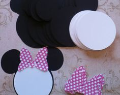20 Minnie Mouse Head Ear Bow Hot Pink by sandylynnbscrapping