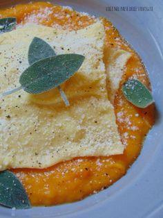 Ravioli al parmigiano e crema di zucca