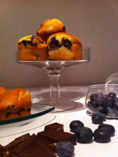 Home Sweet Brocante - Recipe - Blueberry Muffins - Chocolate Muffins