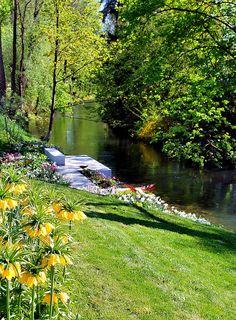 Mangfall Park, Rosenheim, Bavaria, Germany