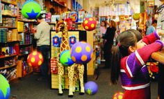 Finnegan's Toys and Gifts is a great place to explore downtown.
