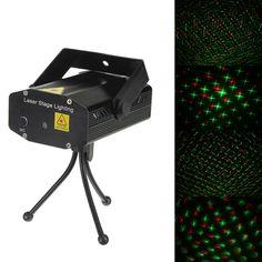 Mini R&G Laser Light Lighting Projector Disco Stage Light 110-240V