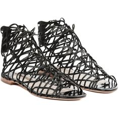 Sophia Webster Gladia Sandal (1.437.090 COP) ❤ liked on Polyvore featuring shoes, sandals, black, black laced shoes, black shoes, laced shoes, lace up sandals and laced up shoes
