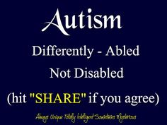 #autism...