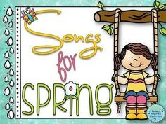 """Songs and Activities for Spring - for the elementary music classroom #Kodaly #Orff #musiceducation Songs and visuals include """"Rain, Rain"""", """"Old Mister Rabbit"""", """"Pitter Patter"""", """"John the Rabbit"""", """"Closet Key"""", """"Come Back Home My Little Chicks"""" and """"Frog in the Meadow""""."""
