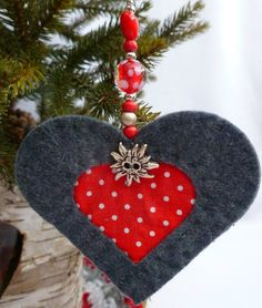 felt christmas tree decorations tutorial from the sewing directory nordic christmas decorations heart decorations - Nordic Christmas Tree Decorations