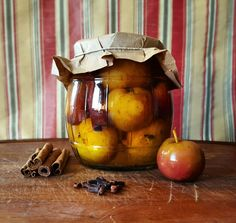 Pickled mini apples should really be a part of your life. Make a basic apple-cider vinegar pickle brine, (without the onion or garlic) and simmer with cinnamon, cloves and black pepper. Chill and let marinate for a week.