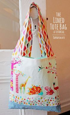 Make It: Lined Tote Bag - Free Pattern & Tutorial #sewing