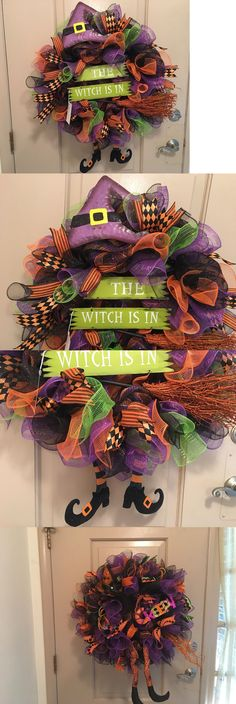 Wreaths 16498: 26 Halloween ~The Witch Is In ~ Deco Mesh Wreath ~ Wreath S And More By Terri -> BUY IT NOW ONLY: $50 on eBay!