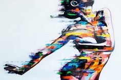 Dancer- Print on canvas | Signed  by the artist. Canvas Signs, Paint Splatter, Creative Studio, Canvas Art Prints, Pop Art, Digital Prints, Dancer, Original Paintings, Abstract