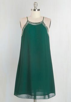 Gallery Curator Dress in Jade. Swish from exhibit to exhibit in this deep jade dress, adjusting each art piece to perfection before opening the doors! #green #prom #modcloth