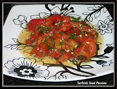 Turkish Food Passion: Red Bell Pepper Salad (Kırmızı Biber Salatası)