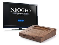 Analogue Interactive's Consolized Neo Geo MVS. It's made out of wood. Like, from a tree. http://www.mediator.io/