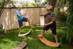 Curvy Board/ Waldorf Rocker Board Golden Oak by openendedcreations