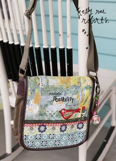 This incredible little messenger bag is a best seller. We love the well placed reminder to 'radiate possibility, dream bigger!' We could all use a little more dreaming bigger, wouldn't you agree?