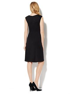Seamed  Flare Dress - New York & Company
