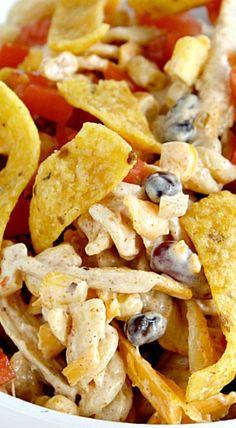 Fiesta Ranch Chicken Pasta Salad