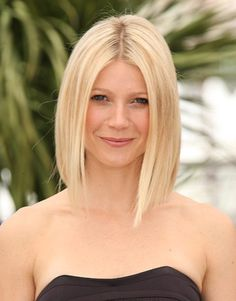 Gwenyth Paltrow looks like one hot momma with her shoulder grazing bob hairstyle.
