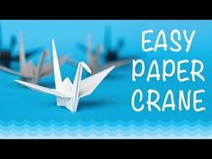 Paper Crane: How to make a Paper Crane. Easy Origami Crane tutorial, by OrigamiCalm. - YouTube