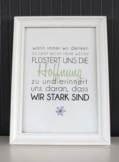 Originaldruck - Druck ♥Wir sind stark♥ - ein Designerstück von Formart-Zeit-fuer-schoenes bei DaWanda