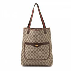 cc23918e0ac LXRandCo guarantees the authenticity of this vintage Gucci tote. This chic  work bag was crafted in gg coated canvas in beautiful beige.
