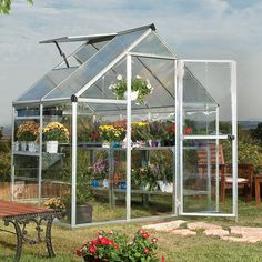 Found it at Wayfair - Hybrid 6 Ft. W x 4.5 Ft. D Polycarbonate Greenhouse