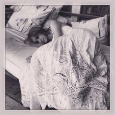 """""""Sometimes I nap in @ hm lacey dresses and pretend to be a princess"""" — Becca Tobin"""