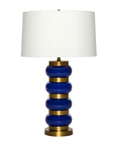 The Casino Royale Lamp from Emporium Home is a beautifully designed tabletop lighting accessory for the home or office. Check out the royal blue glass globes accented by satin brass rings, very chic.very bond! Column Lights, Pillar Lights, Boys Bedroom Furniture, Royal Furniture, Blue Furniture, Bedroom Ideas, Home Lighting, Modern Lighting, Glass Globe