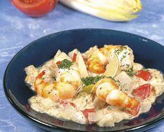 Scampi's met witloof en Nazareth-kaas - Colruyt Culinair !
