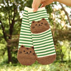 96c101741a3 CRAZY FLY New Harajuku Women Cartoon Animal Striped Socks Novelty Patterned  Sock Colorful Cat Footprints Cotton Socks Floor