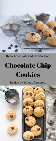 Delicious gluten-free recipes your family will love. Over 800 recipes, from baked goods to main dishes. Gluten Free Cookie Recipes, Gluten Free Chocolate Chip Cookies, Gluten Free Sweets, Gluten Free Cookies, Stevia Chocolate, Keto Chocolate Chips, Low Carb Chocolate, Clean Recipes, Low Carb Recipes