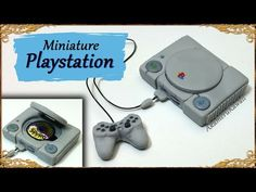 Miniature Playstation (Inspired) - Polymer Clay Tutorial - YouTube