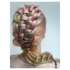 Who likes rainbow braids? Here's a zipper braid into slip tie ponytail what do you think? #hbjbraids #hairbyjoel #london #hairstylist #braid #braids #plait #plaits #style #hair #hairstyle #hairup #inspiration #hbjtextures #zipperbraid #sliptie #ponytail