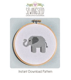 Elephant Cross Stitch Pattern Instant Download par Sewingseed