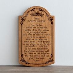 The Lord's Prayer - Wall Art Tablet