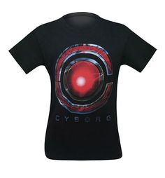New Justice League Movie CYBORG LOGO Adult T-Shirt All Sizes