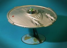 Vintage Science Fiction Model Kit: Flying Saucer