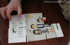 Let the kids make puzzles from the old Christmas cards!