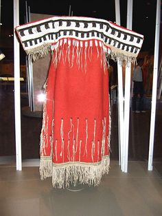 "NMAI_Woman's ""Indian Cloth"" Dress (Black+White+Red), via Flickr."